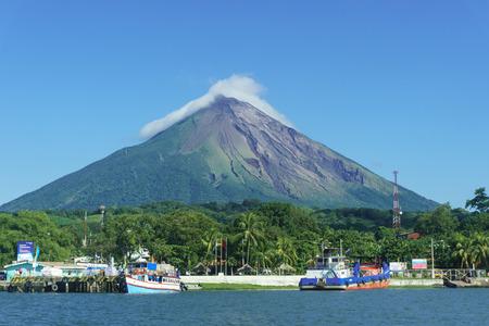 Ometepe Island, Nicaragua. View of Voclano Concepcion