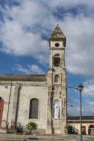 spanish architecture: Guadalupe church view from outdoors, Granada, Nicaragua