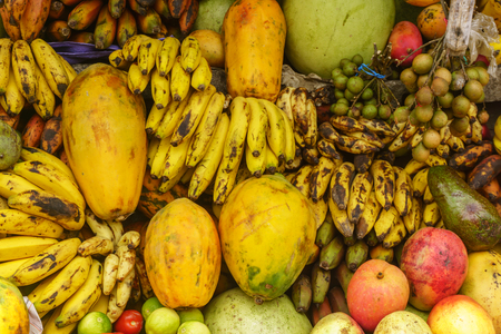 tropical fruits on sell from Costa Rica marketplace.