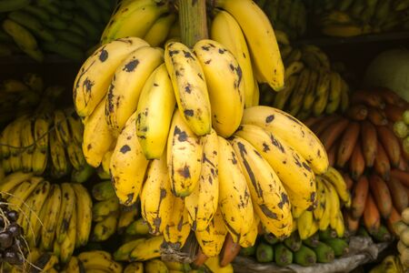 republic of peru: banana on sell in the market