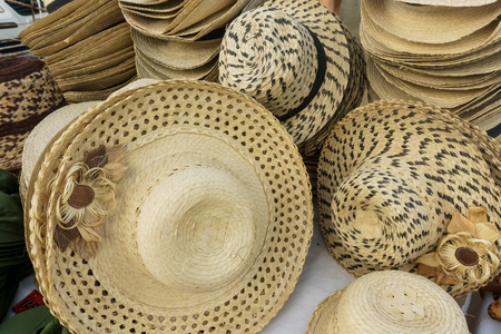 Handmade hats for sale in Cuba Stock Photo