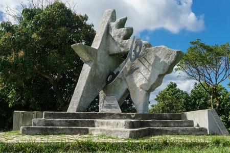 hasta: VINALES, CUBA - DECEMBER 28, 2016: Che Guevara monument in las Terrazas, Pinar del rio