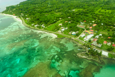 Big Corn Island, Nicaragua. Aerial view