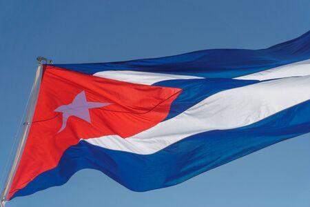 cuban flag with blue sky Banco de Imagens - 80774188