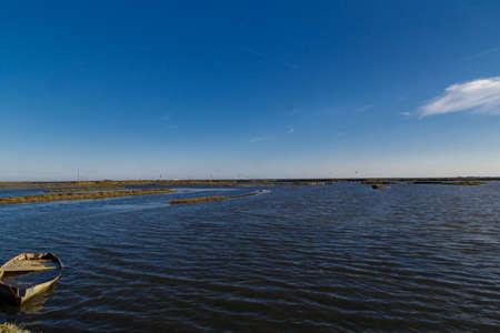 Delta de lEbre reservoir from Catalonia Stock Photo