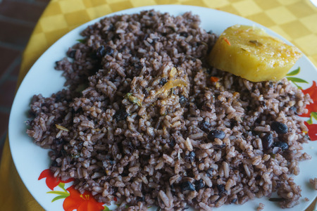 Congri, Rice with beans, a typical dish of Cuban food
