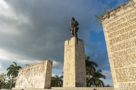 Santa Clara, Cuba, January 6, 2017: Che Guevara monument from outdoors in Santa Clara Redakční