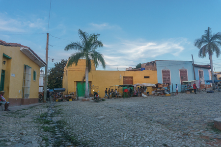 Trinidad, Cuba, January 3, 2017: street view of trinidad. Touristic place from Cuba