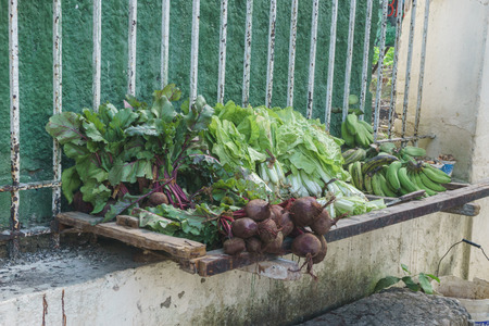 vegetables on sell in the street. Cuban travel imagery Stock Photo