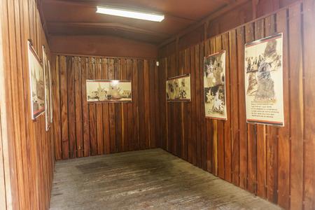Santa Clara, Cuba, January 5, 2017:  revolution train museum in Santa Clara, Cuba. This place is where che guevara and their revolutionary group win the battle of Santa Clara during the revolution Editorial
