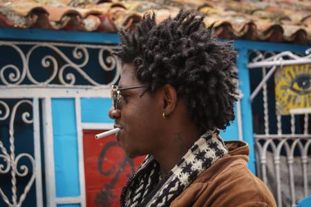 La Havana, Cuba, January 08, 2017: Local man on a party in artistic Callejon de Hamel street in Havana