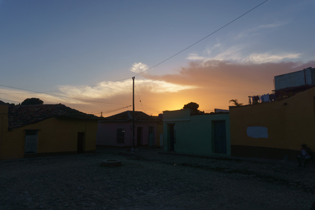 street view of trinidad. Touristic place from Cuba Imagens