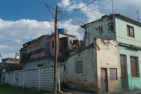 Street view on Santa Clara, Cuba. General travel imagery Imagens