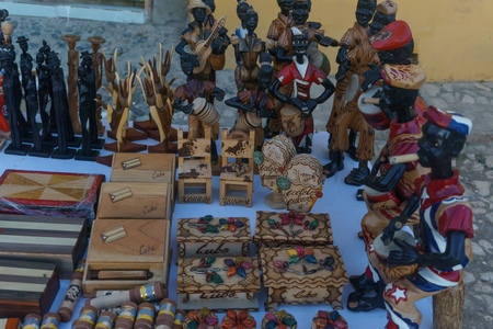cuban souvenirs or crafts on market