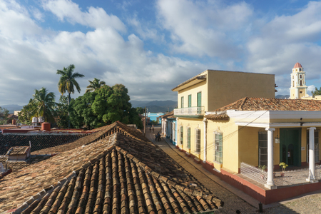 Street view of town. Trinidad is one of the must touristic place in Cuba