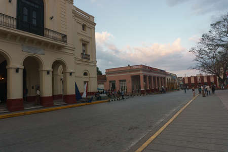 Santa Clara, Cuba, January 5, 2017: Teatro La Caridad outdoors view, General travel imagery Éditoriale
