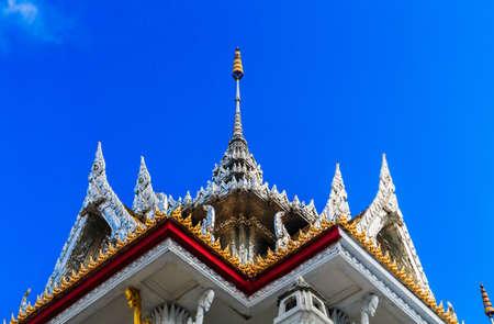 bangkok temple: bangkok temple with blue sky in thailand