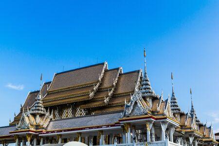 bangkok temple: bangkok temple with sky in thailand Stock Photo