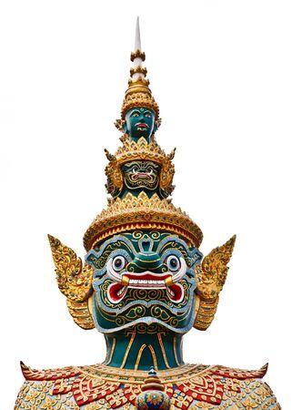 Une statue de style tha�landais de Tosakan: un personnage de g�ant dans le Ramayana Banque d'images