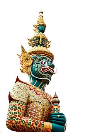 Une statue de style tha�landais de Tosakan: un personnage g�ant dans le Ramayana