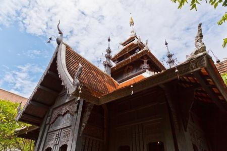 The Lanna Style Tetrahedron Vihara, Chedi Luang Temple, Chiang Mai Province, Thailand Stock Photo - 11267615