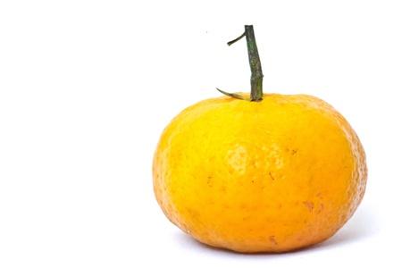 L'image d'une orange avec le fond blanc Banque d'images