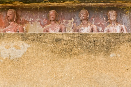 The background of the wall and images of Buddha photo