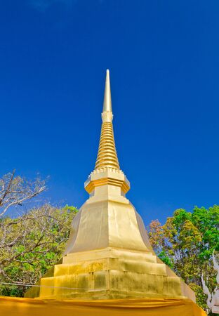 The golden pagoda in Phra That Doi Tung temple, Chiang Rai province, Thailand