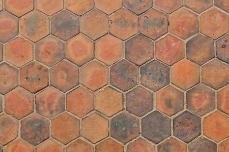 L'image de fond de tuiles en terre cuite hexagonales