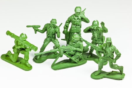 The isolated image of the plastic toy soldiers Stock Photo - 13174549