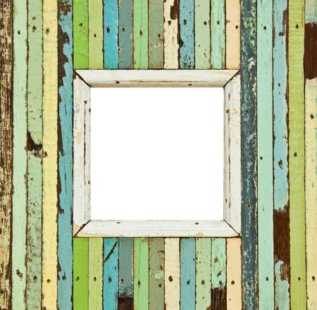 L'image isolée de la cadre photo en bois coloré Banque d'images - 13174595