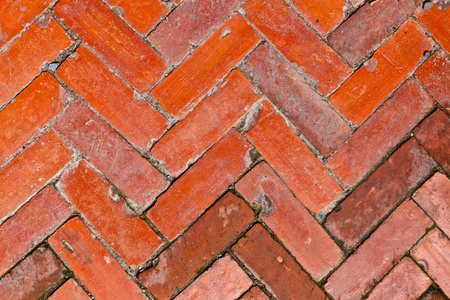 The background image of the pattern of the old brick floor Banque d'images