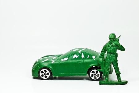 L'image agrandi isol�e du petit soldat vert
