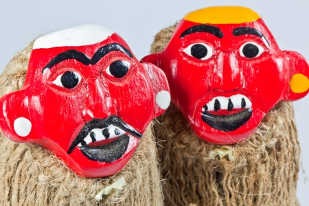 The closeup image of the Laos traditional dolls