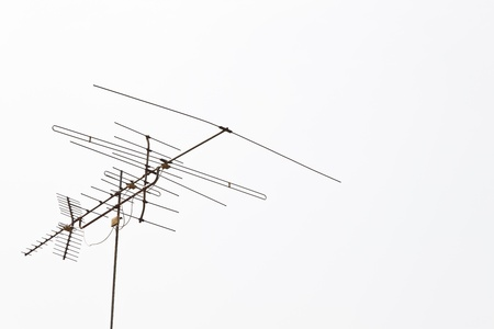 The old style antenna with the white background