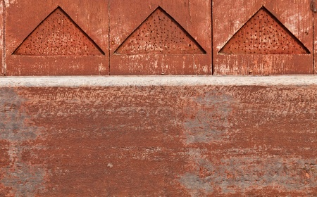 L'image de fond de d�tail de style tha�landais d'un mur en bois Banque d'images