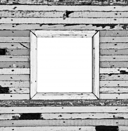 The isolated image of the black and white wooden picture frame