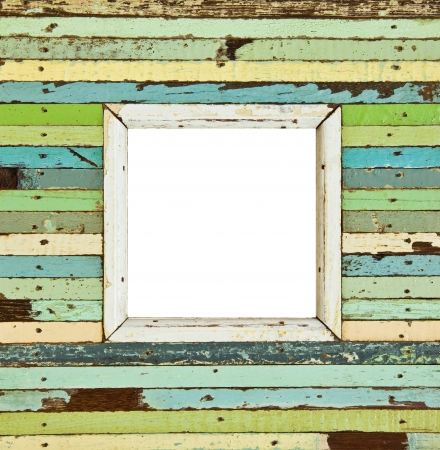 The isolated image of the colorful wooden picture frame photo