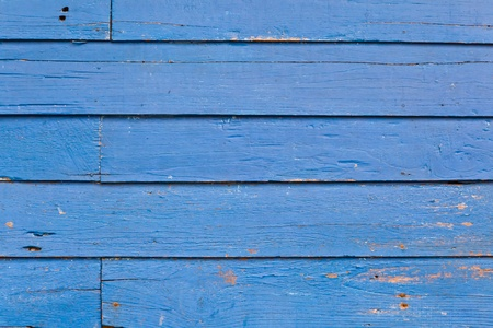 The background image of the old blue wooden wall Banque d'images