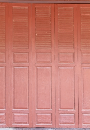 The background image of Thai style wooden partitions of a house photo