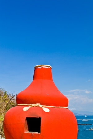 The red bottle gourd kiln for burning the Chinese silver and gold paper