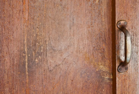 The old handle on the wooden wall Stock Photo - 17692696