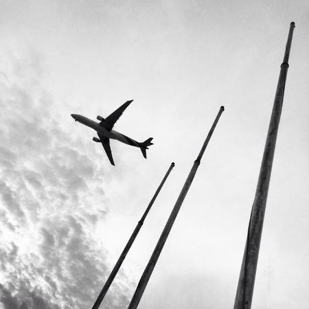 Avion vole au-dessus des pôles Banque d'images - 21341854