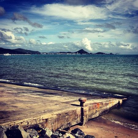 La plage et la mer bleue Banque d'images - 21342139
