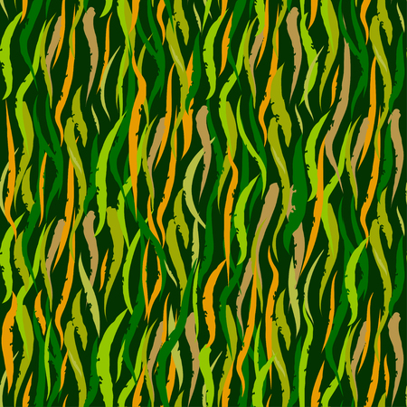 Foliate seamless pattern. Green abstract leaves background.