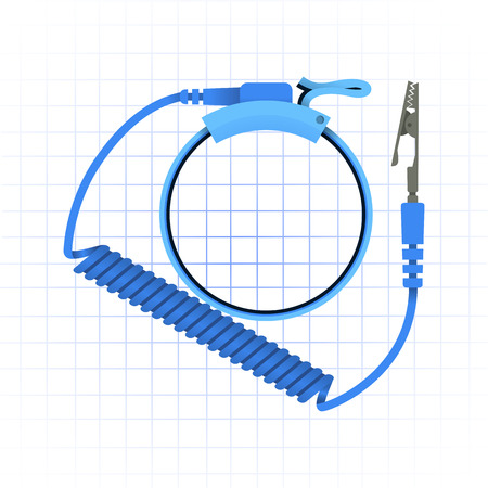 This image is a antistatic wrist strap vector illustration