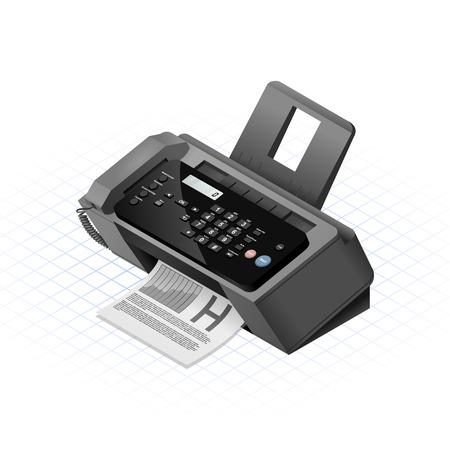 Dieses Bild ist eine Schwarz Faxgerät mit Kunststoff und Hochglanzmaterial