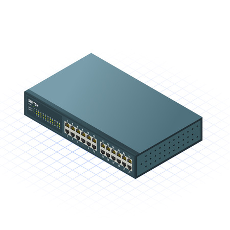 This image is a 24 Ports Switch for Computer Network Illustration