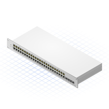 isp: This image is a Switch with 48 ports for computer networking