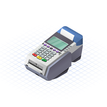 Isometric EDC (Electronic Data Capture) for debit or credit card swiping